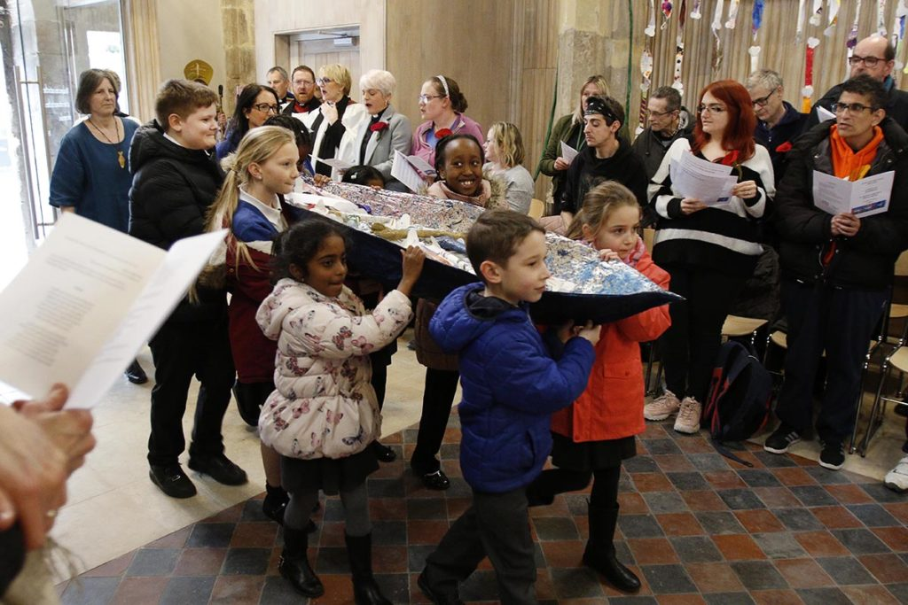 Children from Kingsholm Primary School taking part in The Service of Celebration to mark the reopening of Discover DeCrypt in Gloucester. - 22 March 2019 Picture by Andrew Higgins - Thousand Word Media   NO SALES, NO SYNDICATION. Contact for more information mob: 07775556610 web: www.thousandwordmedia.com email: antony@thousandwordmedia.com  The photographic copyright (©2019) is exclusively retained by the works creator at all times and sales, syndication or offering the work for future publication to a third party without the photographer's knowledge or agreement is in breach of the Copyright Designs and Patents Act 1988, (Part 1, Section 4, 2b). Please contact the photographer should you have any questions with regard to the use of the attached work and any rights involved.