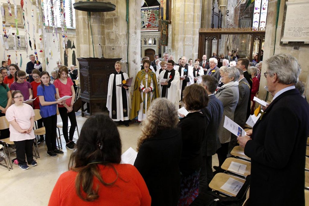 The Bishop of Gloucester, the Rt Rev Rachel Treweek, at the Service of Celebration to mark the reopening of Discover DeCrypt in Gloucester. - 22 March 2019 Picture by Andrew Higgins - Thousand Word Media   NO SALES, NO SYNDICATION. Contact for more information mob: 07775556610 web: www.thousandwordmedia.com email: antony@thousandwordmedia.com  The photographic copyright (©2019) is exclusively retained by the works creator at all times and sales, syndication or offering the work for future publication to a third party without the photographer's knowledge or agreement is in breach of the Copyright Designs and Patents Act 1988, (Part 1, Section 4, 2b). Please contact the photographer should you have any questions with regard to the use of the attached work and any rights involved.