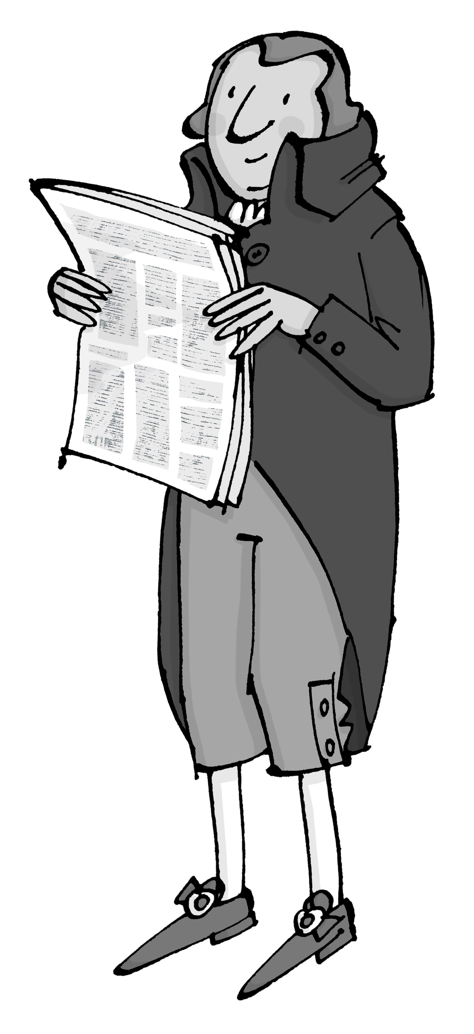 cartoon of Robert Raikes